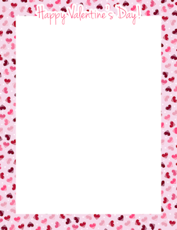 Valentine day borders clipart clipart library Happy Valentine\'s Day Border | Frames | Valentines day ... clipart library
