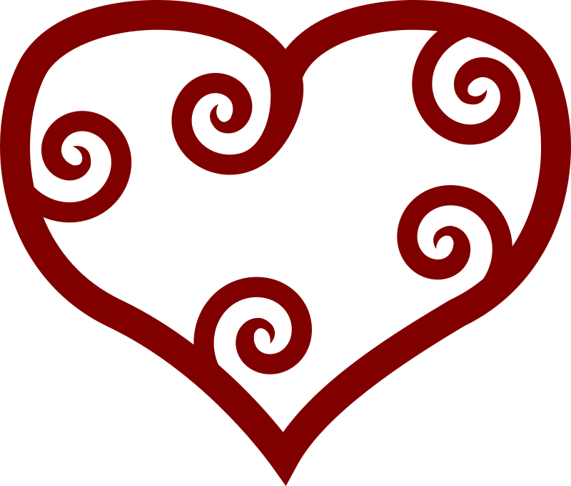 Valentine heart clipart images png library download Clipart - Valentine Red Maori Heart png library download