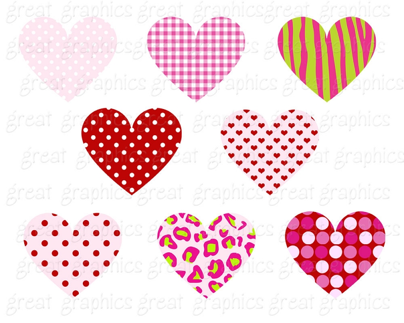 Valentine hearts clip art jpg freeuse download Clip art valentine hearts - ClipartFest jpg freeuse download