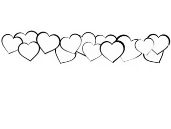 Valentine hearts clipart black and white picture freeuse library Valentines Day ALPHABET Font & Clipart Color & Black White Hearts Clip Art picture freeuse library
