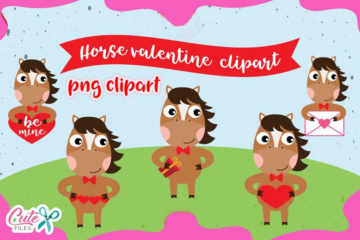 Valentine horse clipart transparent download Horse Love Clipart set, valentine animals cliparts transparent download