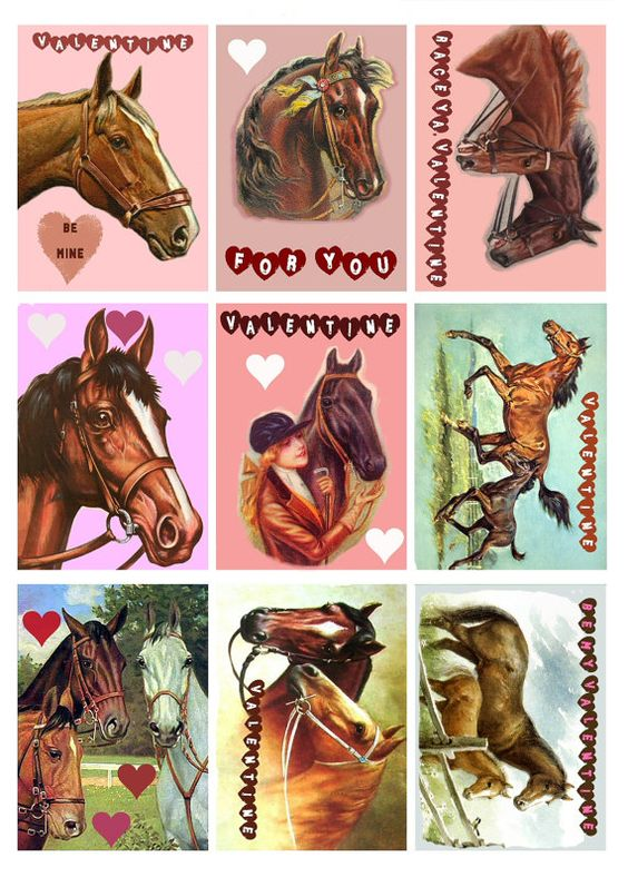 Valentine horse clipart clip transparent stock Printable Horse Valentine& - Clip Art Library clip transparent stock