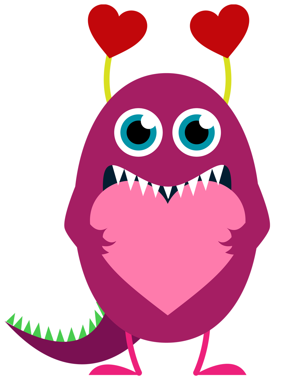Valentine monster clipart vector free library Free Monster Heart Cliparts, Download Free Clip Art, Free ... vector free library