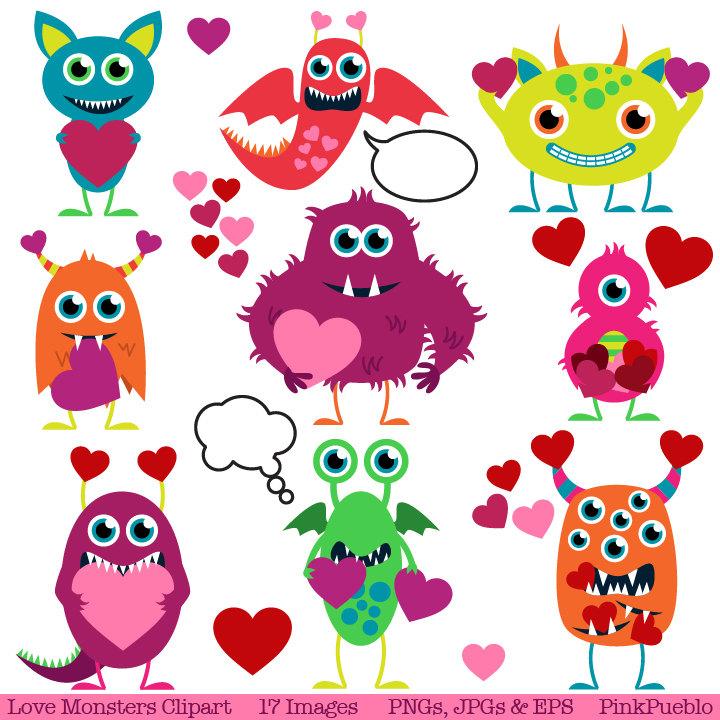 Valentine monster clipart jpg Valentine Monsters Clipart | Clipart Panda - Free Clipart Images jpg