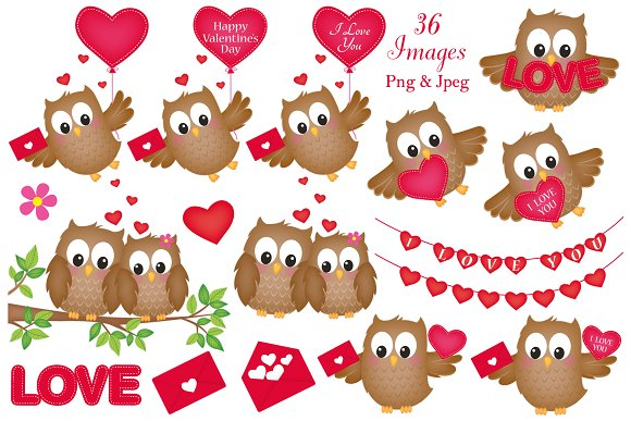 Valentine owl clipart clip art free download Valentine\'s Day Owl Clipart clip art free download