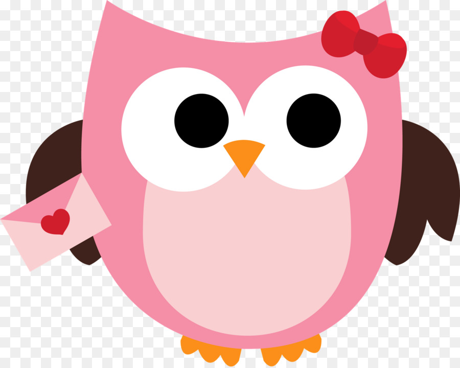 Valentine owl clipart free