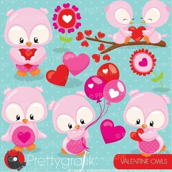 Valentine owl clipart png Valentine owls clipart png