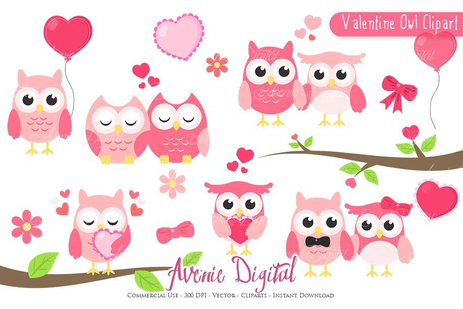 Valentine owls pictures clipart transparent download Valentine Owl Clipart - Vector transparent download