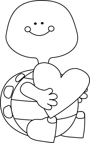 Valentine s clipart black & white clip art transparent Black and White Valentine\'s Day Turtle | Clipart | Valentine ... clip art transparent