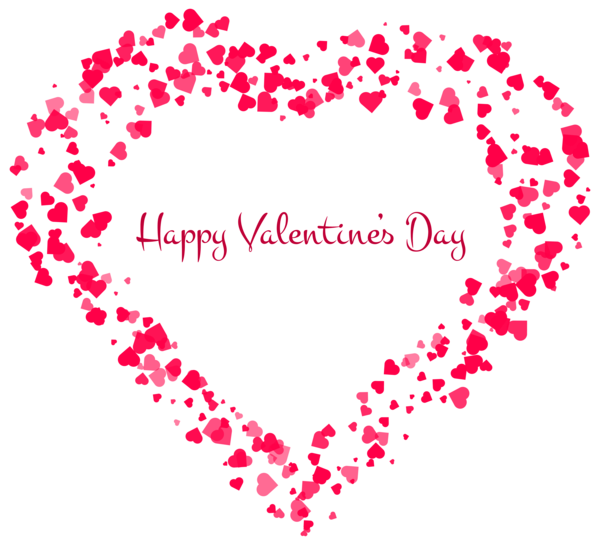 Happy valentines day heart clipart graphic black and white Happy Valentines Day PNG image free download graphic black and white