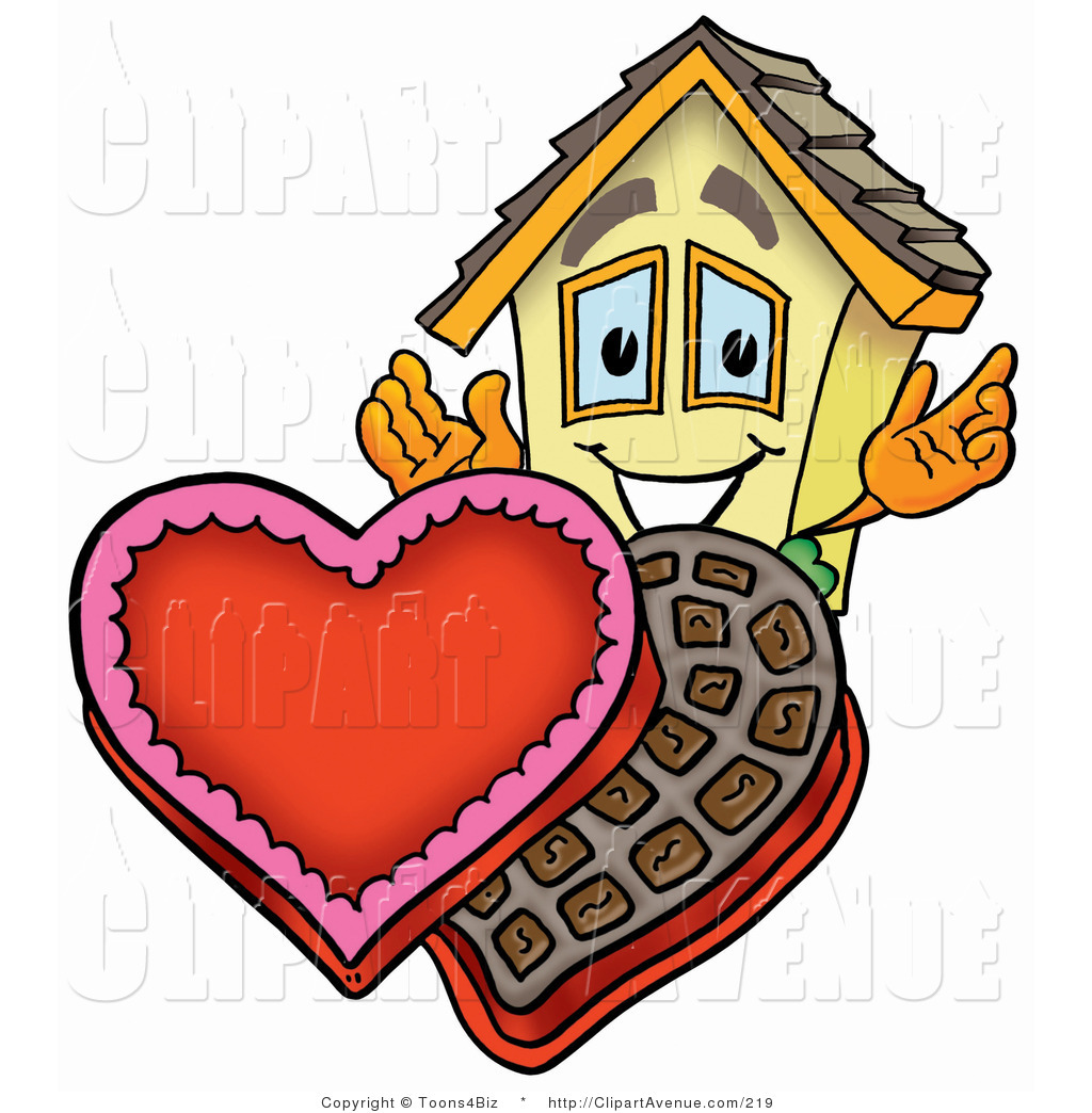 Valentine s day copyright free clipart svg royalty free library Avenue Clipart of a Home Mascot Cartoon Character with an ... svg royalty free library