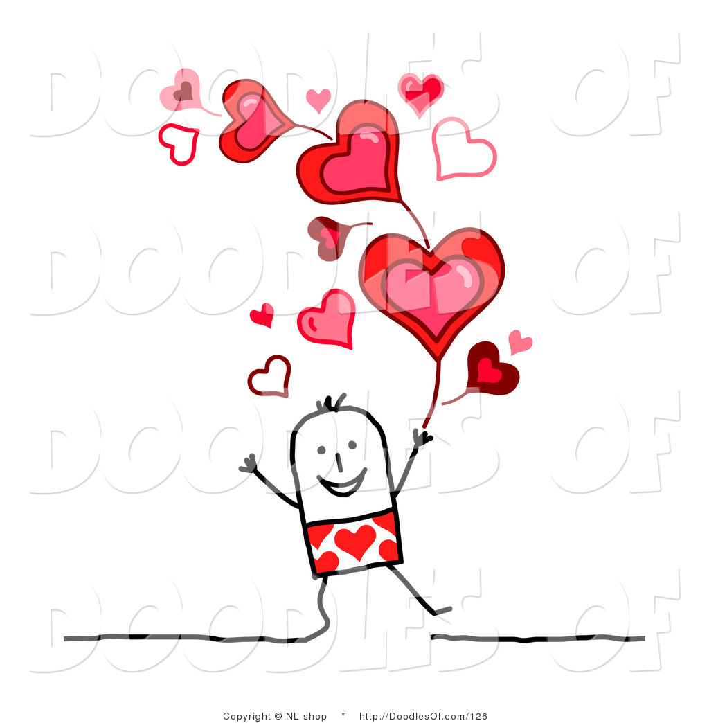Valentine s day copyright free clipart clipart library stock Vector Clipart of a Stick Figure Person Man Under Valentines ... clipart library stock