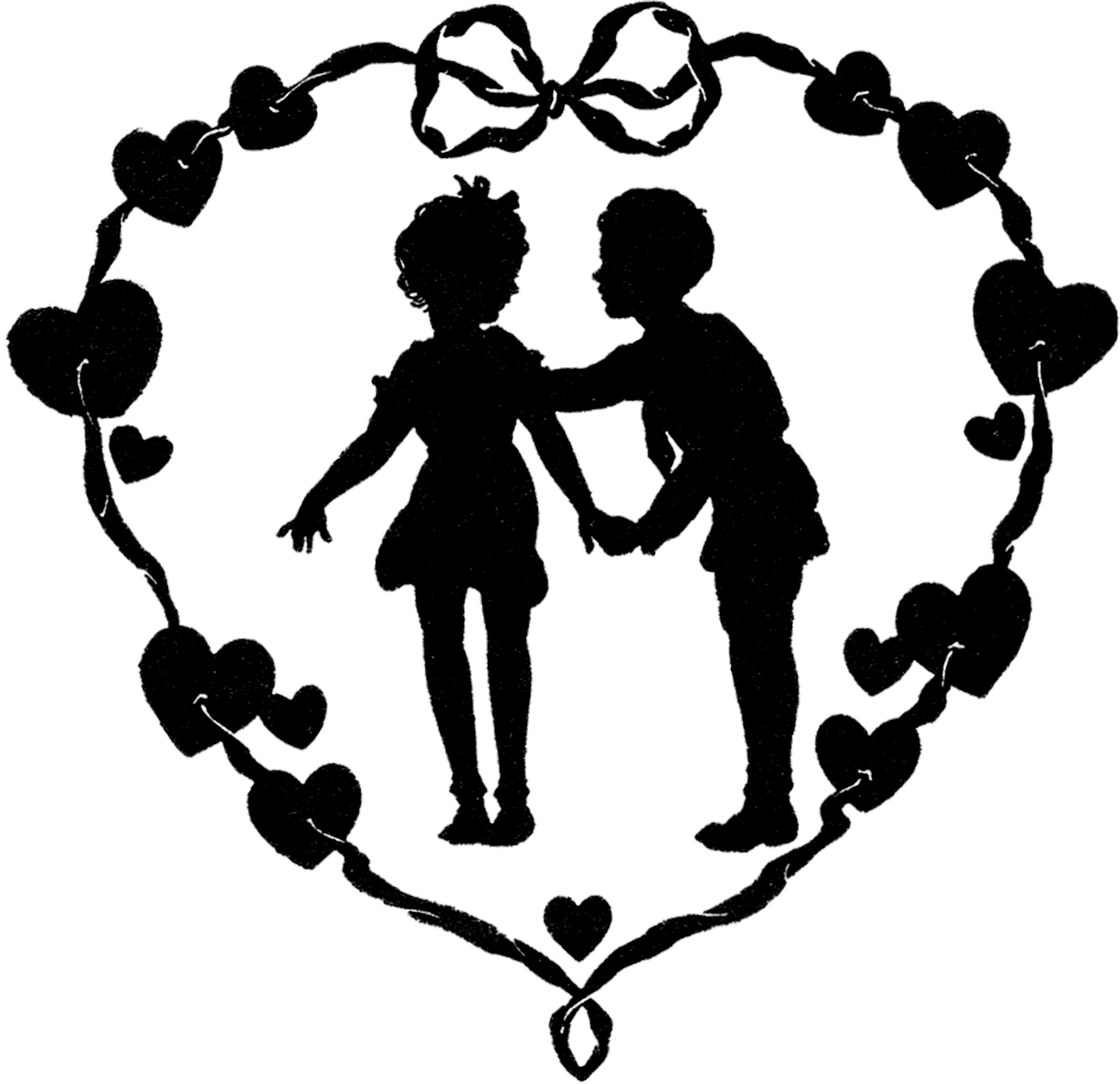 Valentine silhouette clipart graphic royalty free stock 12 Vintage Valentine Silhouettes! - The Graphics Fairy graphic royalty free stock