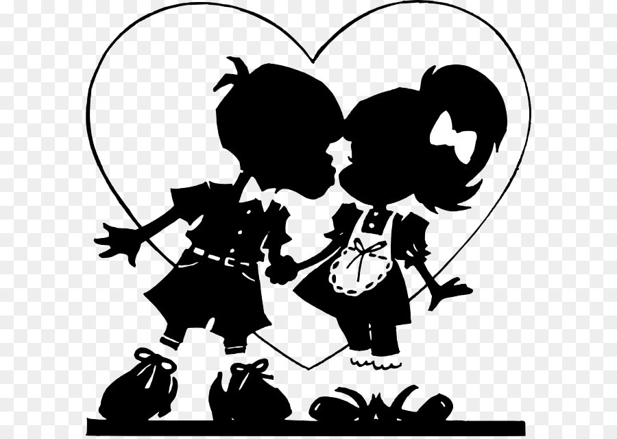 Valentine silhouette clipart clip art freeuse download Friendship Day Love Couple png download - 650*636 - Free ... clip art freeuse download