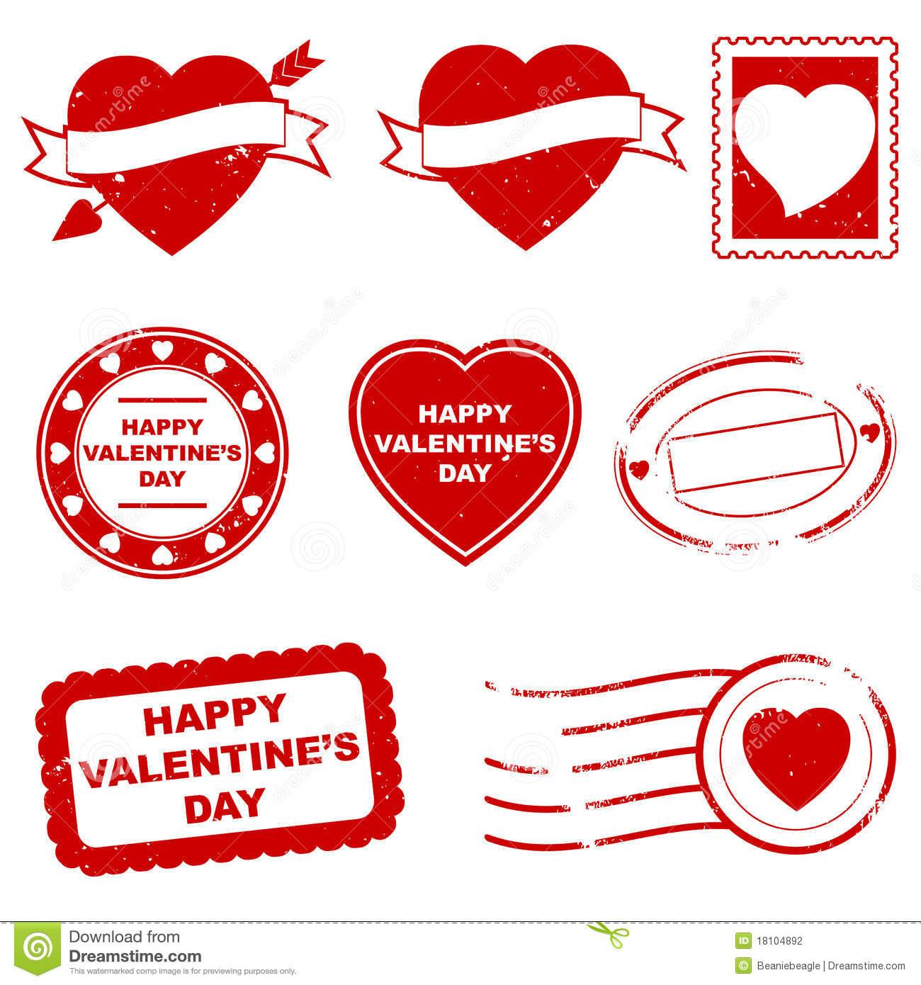 Valentine stamp clipart svg freeuse download Happy Valentines Day Stamp Clipart & Clip Art Images #28285 ... svg freeuse download