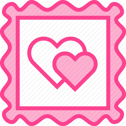 Valentine stamp clipart graphic black and white \'Lovely Valentine\' by Xinh Studio graphic black and white