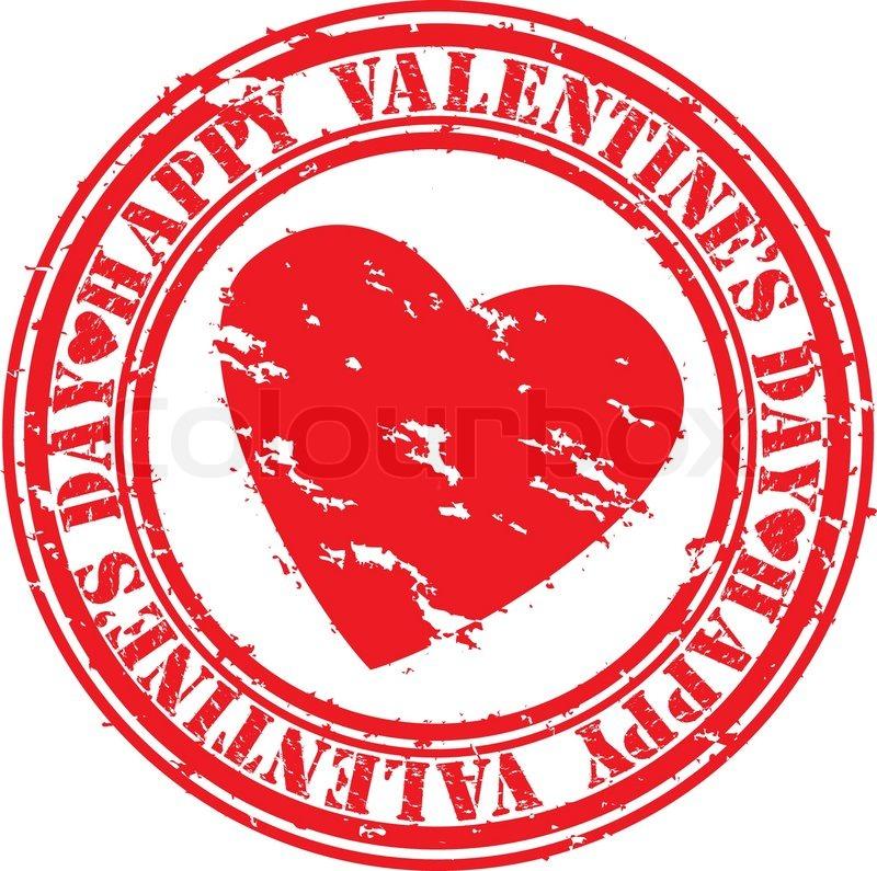 Valentine stamp clipart clip Grunge Happy Valentine\'s day rubber ... | Stock vector ... clip