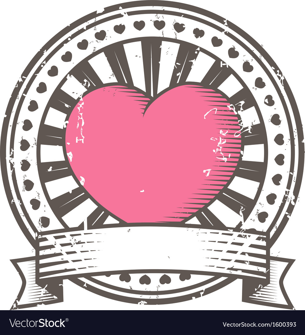 Valentine stamp clipart clip free download Grunge rubber stamp with heart Valentines Day clip free download