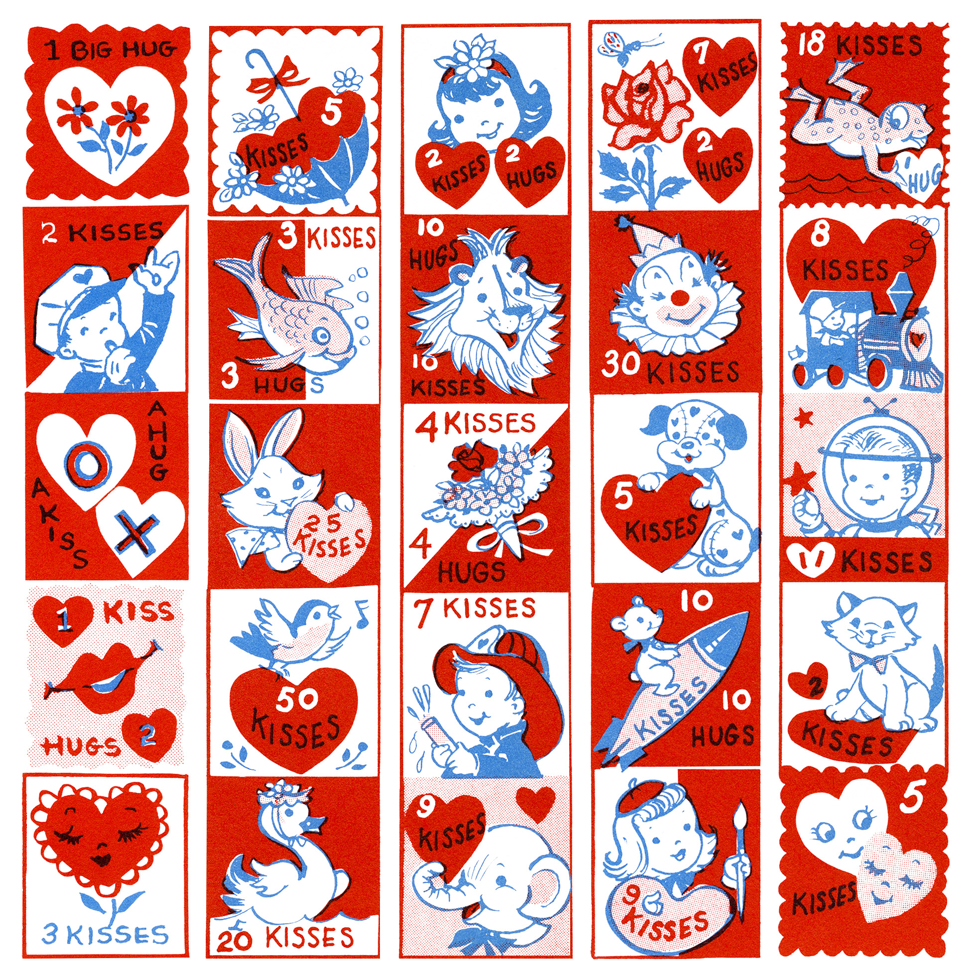 Valentine stamp clipart graphic black and white stock Free Vintage Clip Art Valentine Stamps - Old Design Shop Blog graphic black and white stock