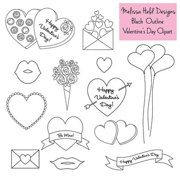 Valentine stamp clipart image royalty free stock Valentine\'s Day Digital Stamps Clipart image royalty free stock