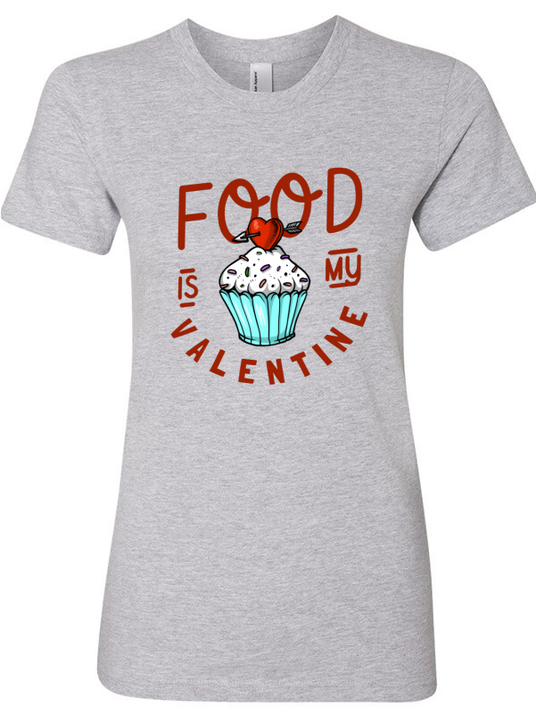 Valentine tshirt clipart svg library download Food Is My Valentine - Download Clipart on ClipartWiki svg library download