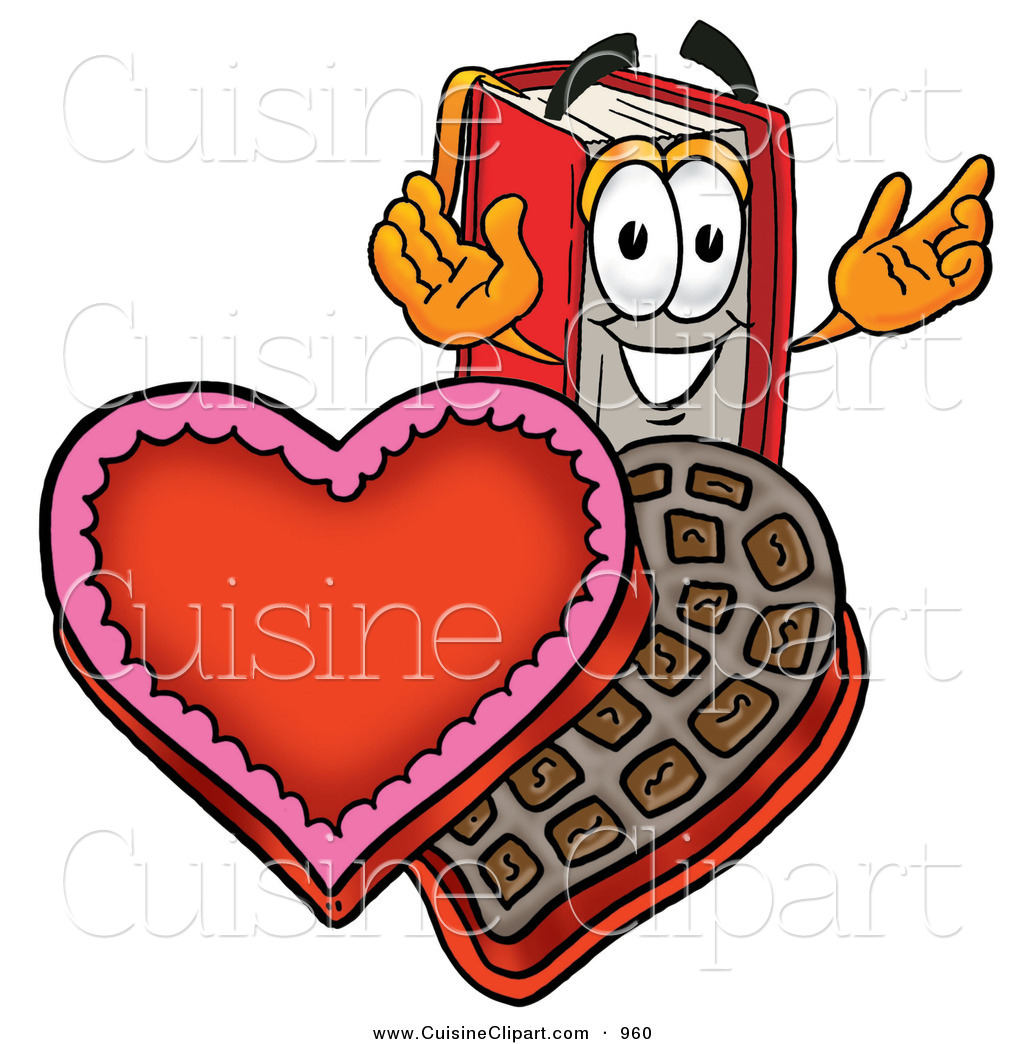 Valentines book clipart vector royalty free download Cuisine Clipart of a Grinning Red Book Mascot Cartoon ... vector royalty free download