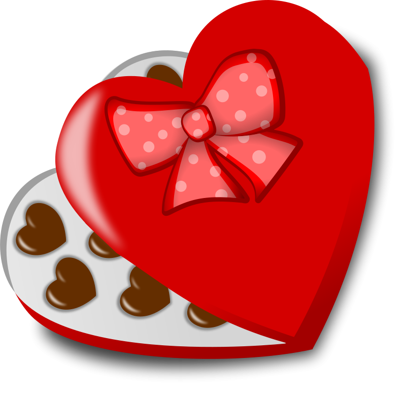 Valentines candy bar clipart graphic freeuse Free Clipart: Box of chocolates | Moini graphic freeuse