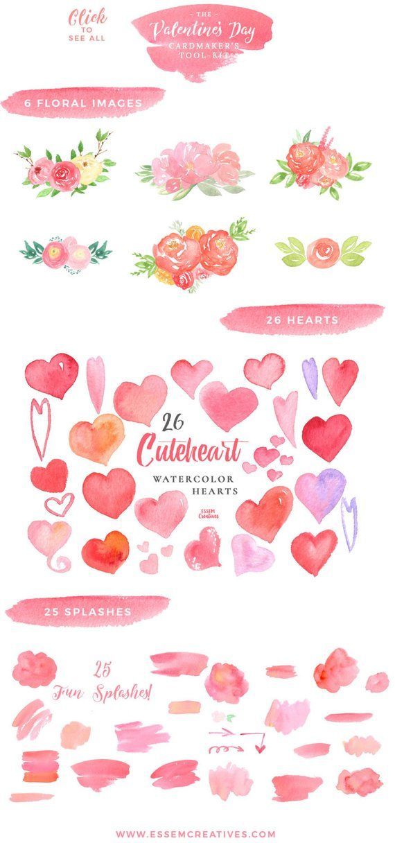 Valentines card design clipart svg free library Valentines Clip Art, Valentines Day Card Design Elements ... svg free library