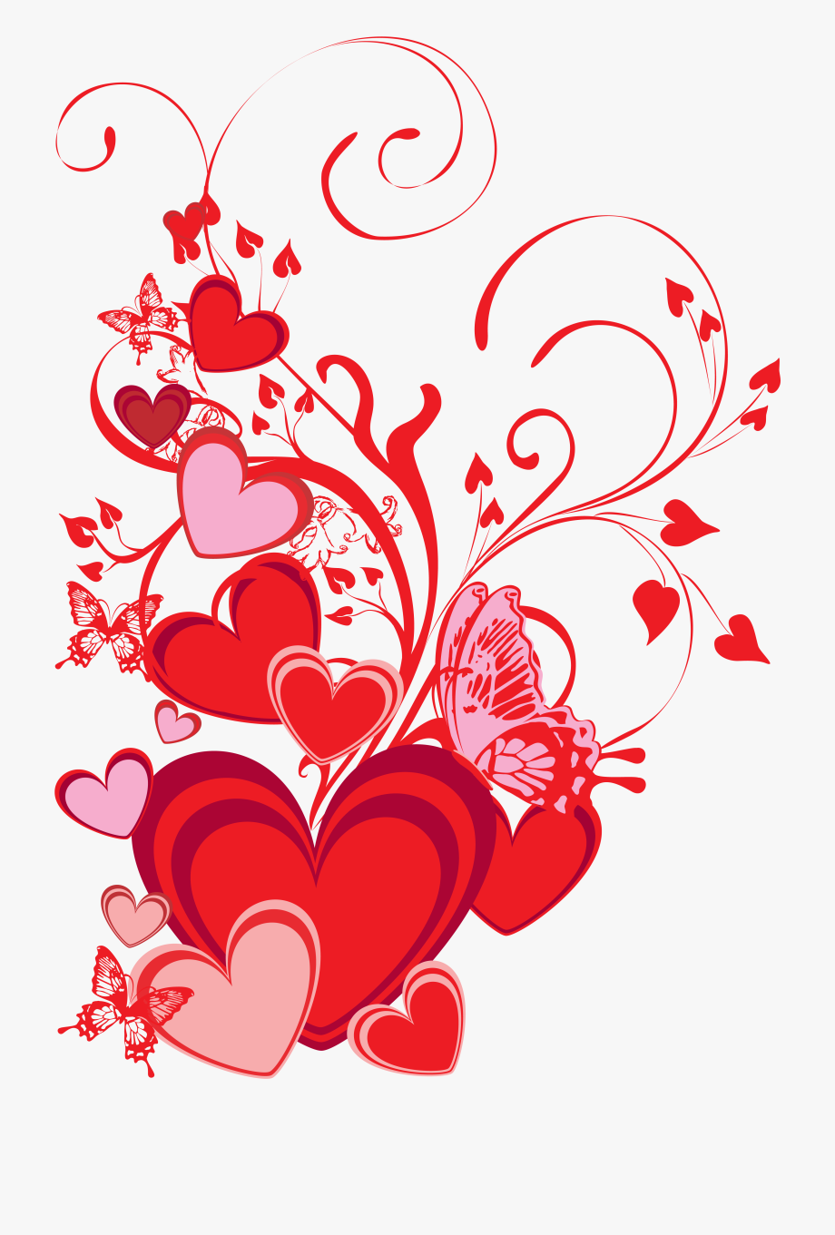 Valentines card design clipart jpg royalty free stock Clipart Heart Butterflies - Valentines Card Design ... jpg royalty free stock