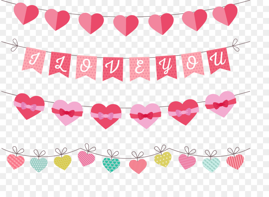 Valentine banners clipart jpg free download Saint Valentines Day png download - 1806*1306 - Free ... jpg free download