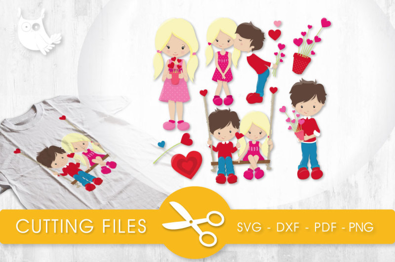 Valentines clipart for kids 800 x 200 pixels vector download Valentine Kids SVG, PNG, EPS, DXF, cut file By ... vector download