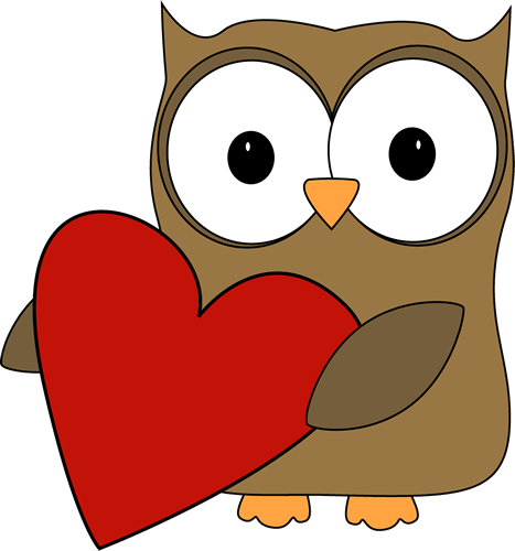 Valentines clipart owls royalty free Portes de classe sur les sentiments | Owls | Valentine heart ... royalty free