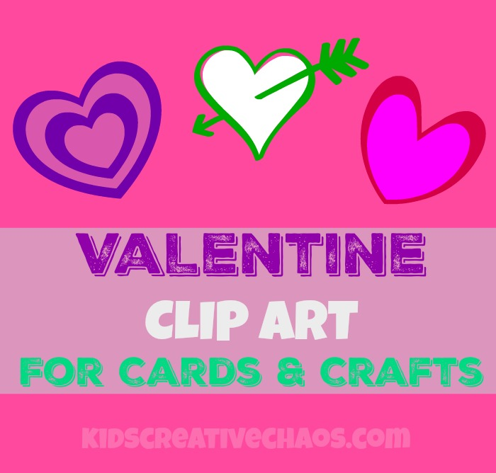 Valentines clipart printable free clip art download Kids Creative Chaos: 10 Valentine Printable Free Clipart Hearts ... clip art download