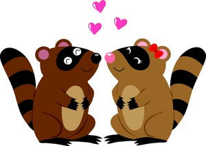 Valentines clipart with raccoon svg free Free Raccoons Clipart Image 0071-0908-3022-2845 | Valentine ... svg free