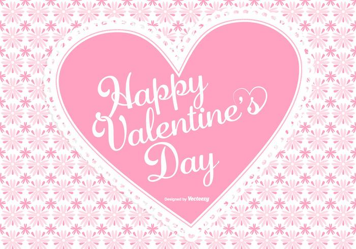 Valentines day background clipart png black and white library Cute Pink Valentine\'s Day Background - Download Free Vectors ... png black and white library
