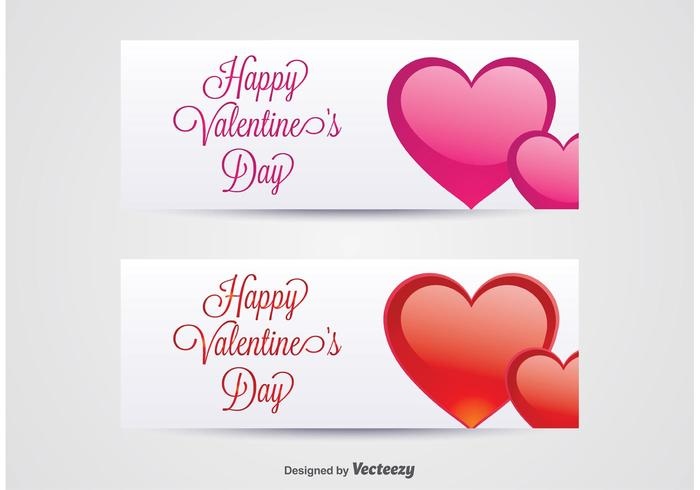 Valentines day banner clipart freeuse stock Valentine\'s Day Banners Vector - Download Free Vector Art ... freeuse stock