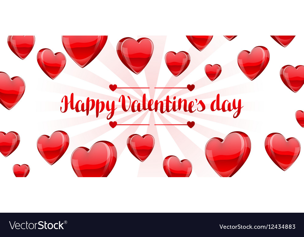 Valentines day banner clipart graphic free Happy Valentine day banner with red realistic graphic free