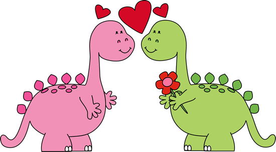Valentines day clipart dinsosaur picture black and white stock Dinosaurs In Love Valentines Day Clip Art | Clipart ... picture black and white stock