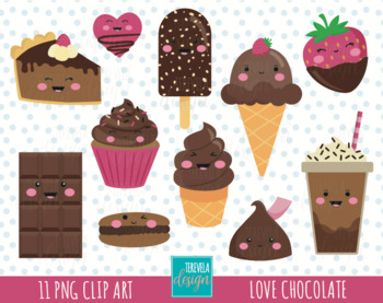 Valentines day clipart food picture freeuse LOVE CLIPART, CHOCOLATE clipart, kawaii, valentine\'s day clipart, DESSERTS,  FOOD picture freeuse