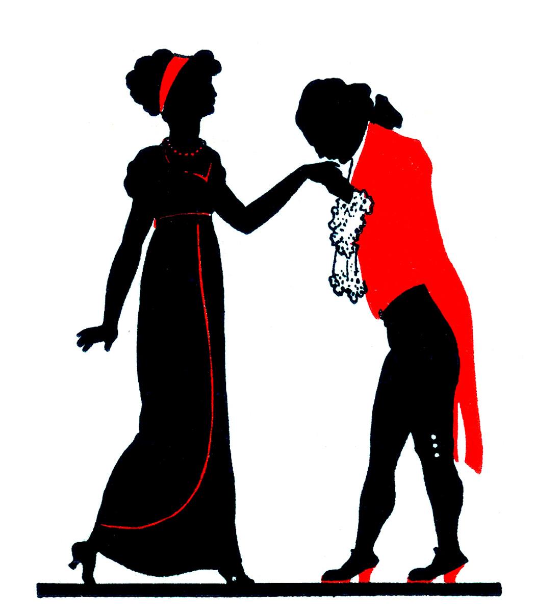 Valentine silhouette clipart freeuse 12 Vintage Valentine Silhouettes! - The Graphics Fairy freeuse