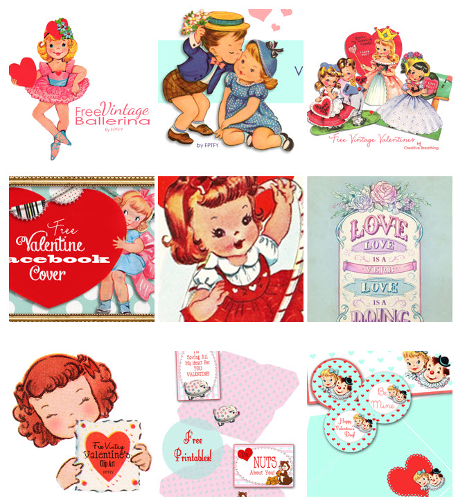Valentines day clipart love vintage image transparent Cute Vintage Valentines Day Clip Art - Free Pretty Things ... image transparent