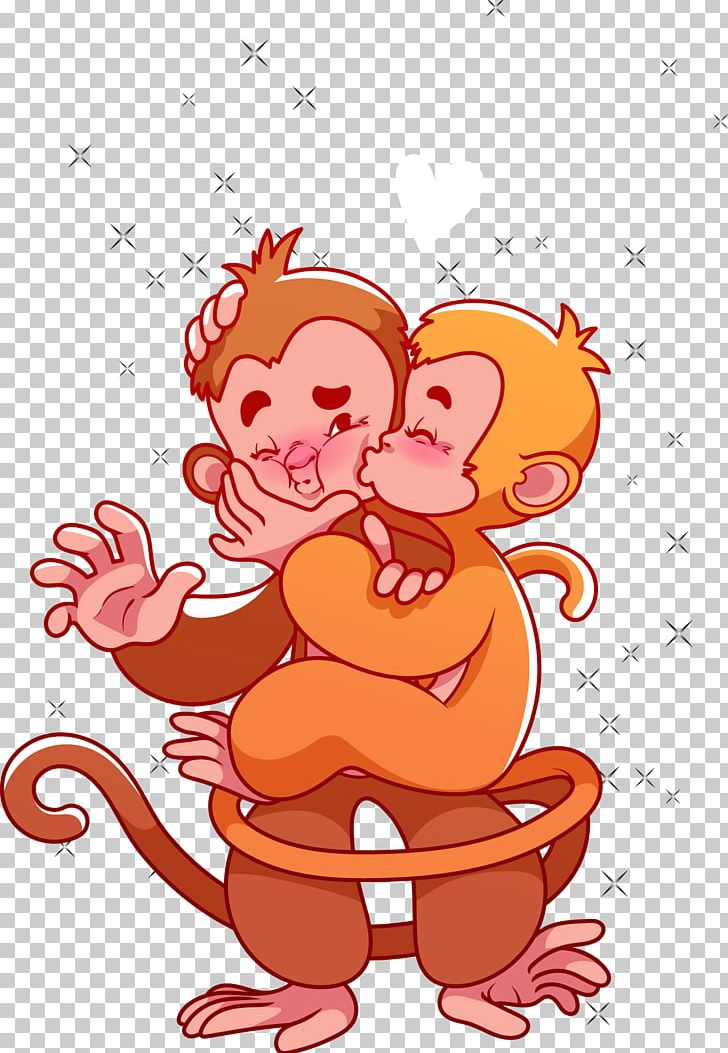 Valentines day clipart monkey image royalty free download Monkey Valentines Day Cartoon PNG, Clipart, 2018 Calendar ... image royalty free download