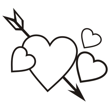 Heart clipart for kids black and white png freeuse library Free Valentines Clipart | Free download best Free Valentines ... png freeuse library