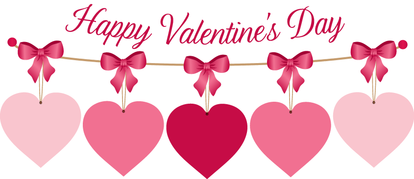 Valentines day clipart transparent hearts banner free download Free Clipart Valentines Day Hearts Photo Album - Best easter gift ever banner free download