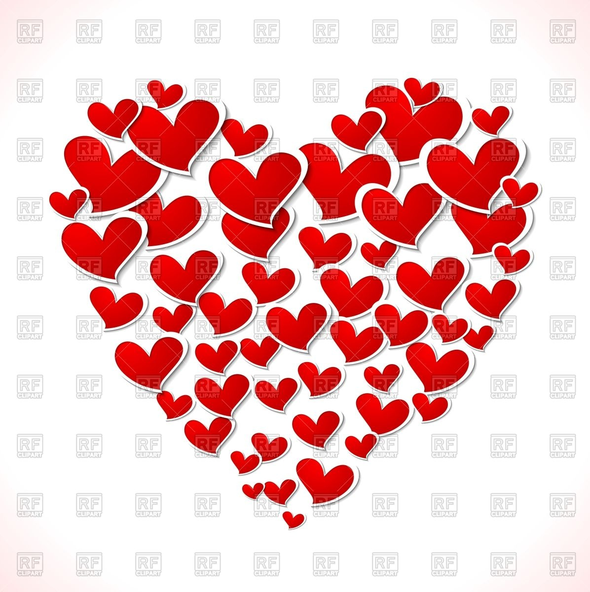 Valentines day clipart transparent hearts picture library Big heart of little hearts - Valentine Day Vector Image #53538 ... picture library
