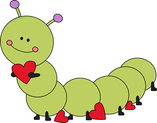 Valentines day cute clipart picture royalty free library Cute Valentine\'s Day Caterpillar Clip Art - Cute Valentine\'s ... picture royalty free library