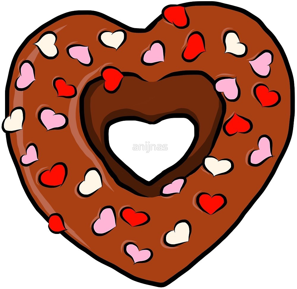 Valentines day donut clipart clip art library library Chocolate Heart Donut Love Sprinkles Valentine\'s Day Cute ... clip art library library