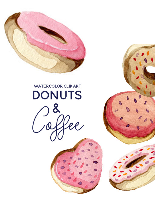Valentines day donut clipart clip art library download Donuts and Coffee Valentines Day Clip Art clip art library download