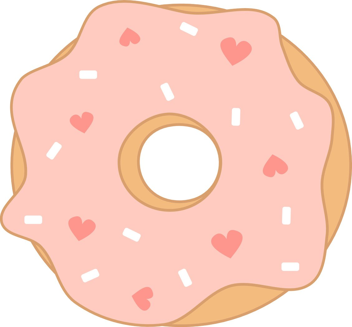 Valentines day donut clipart free download Amazon.com: Pretty Pink Valentines Day Donut Cartoon Vinyl ... free download