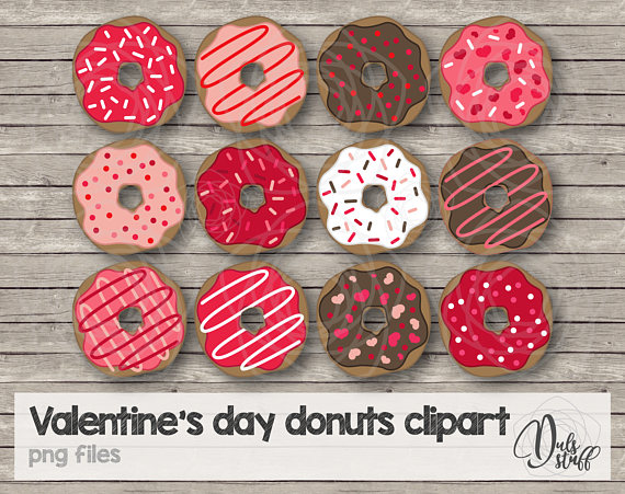 Valentines day donut clipart graphic library stock Valentine\'s day donuts clipart, red donut, Valentine\'s day ... graphic library stock